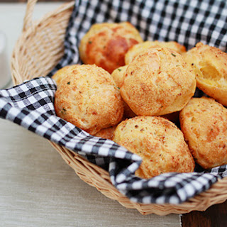 Cheese Puffs (Gougères).