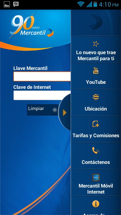 Mercantil Móvil- screenshot
