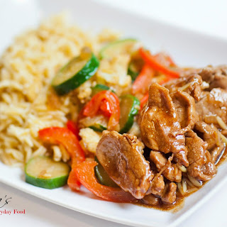 Teriyaki Pork Stir-Fry With Seasoned Orzo