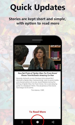 Superhero Bulletin: Short n Simple Superhero News 1.0.25 screenshots 1