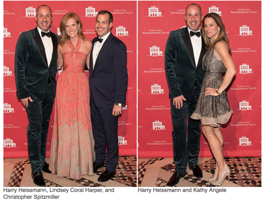 Karen Klopp, Hilary Dick article for New York Social Diary, What to wear to a black tie gala for Lenox Hill Neighborhood Association.   Harry Heissmann, Lindsey Coral Harper, Christopher Spitzmiller.