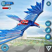 Flying Falcon Robot Hero