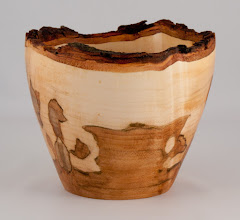 "Photo: Gary Nickerson - 6"" x 5"" natural-edge bowl [ambrosia silver maple]"