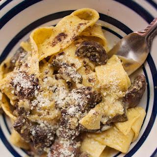 Portobello Pesto Pappardelle