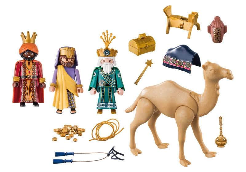 Contenido real de Playmobil® 9497 Reyes Magos