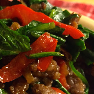 Side Dish in a Snap! — Savory Sausage & Spinach Skillet