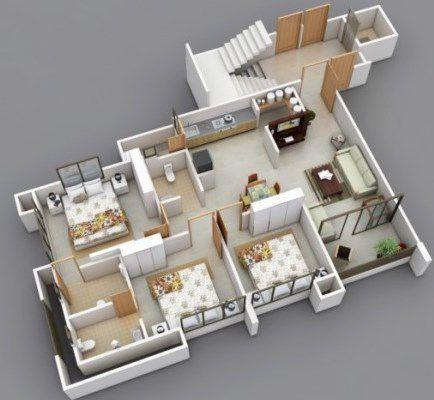 Plans de conception 3d maison applications android sur for Application maison 3d