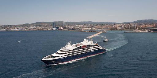 bougainville-in-marseille.jpg - The expedition ship Le Bougainville makes its debut off the coast of Marseille, France.