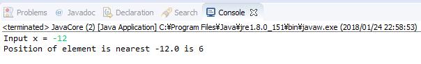 Java - Tìm vị trí trong mảng  mà giá trị tại đó gần x nhất