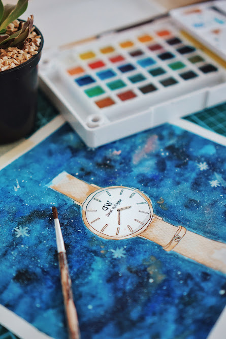 daniel wellington watercolor
