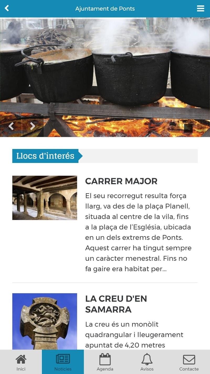 Скриншот Ajuntament de Ponts