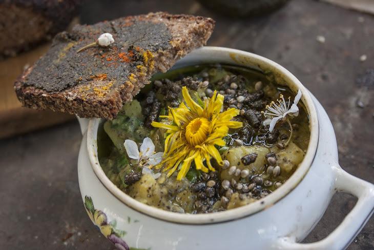 Vegan Lentil Stew with Hemp and Dandelions Recipe