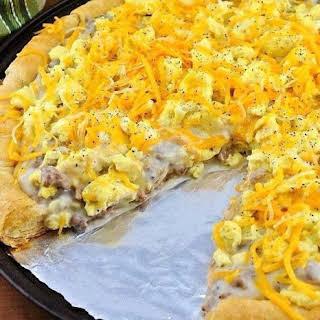Sausage Gravy Breakfast Pizza.