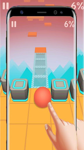 Dance Ball roll road sky Line screenshot 3