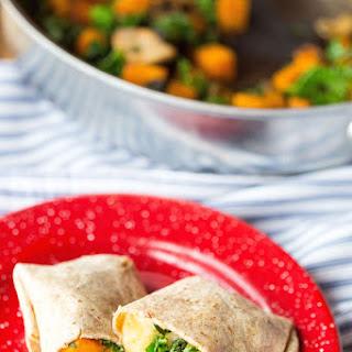 Butternut Squash, Kale, and Gouda Breakfast Burritos