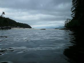 Photo: June 1 - Shell beach campsite on Fitz Hugh Sound.