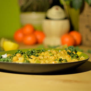 Chickpea And Kale Yellow Curry.