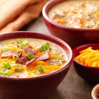 Slow-Cooker Cheesy Chicken and Bacon Soup.