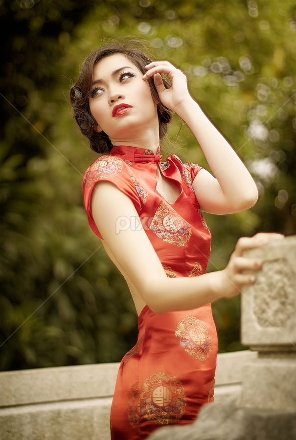 Dreams to Remember by David Hendrawan - People Portraits of Women ( cheongsam, canon, fix lens, indonesian, model, karina khay, jakarta, beauty, portrait, chinese, asian, eos, girl )