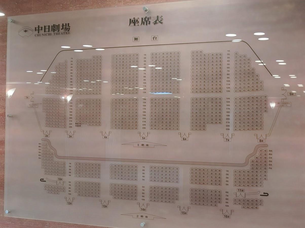 中日劇場座席表