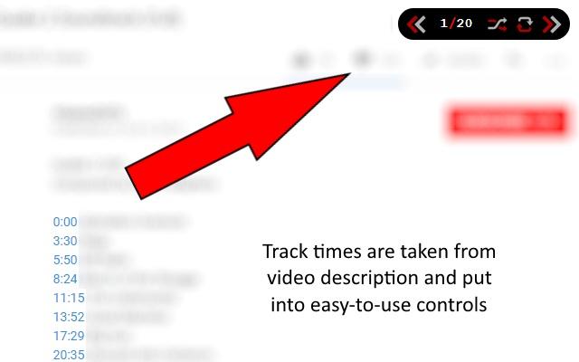 BlackMuffin Single-video Album Controls