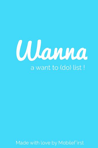 Wanna - a want to do list