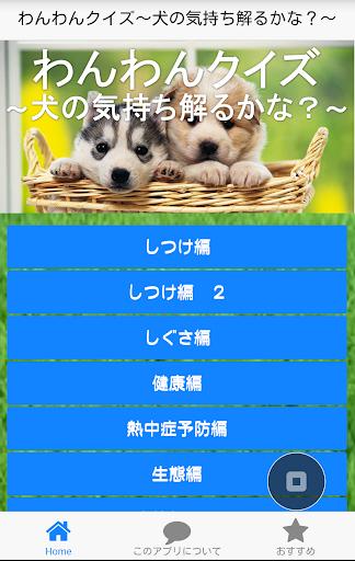 わんわんクイズ~犬の気持ち・ホンネ~犬・わんちゃん好きに!