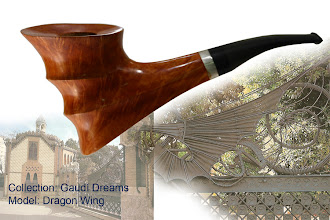 Photo: Dragon Wing – emotional pipe inspired by the metalic dragon on the monumental gateway to Finca Güell, which offers the biggest impresion of touch from the whole colection.