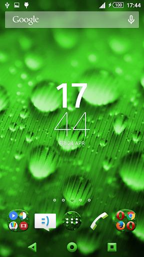 Theme Xperien Dew Drops Green