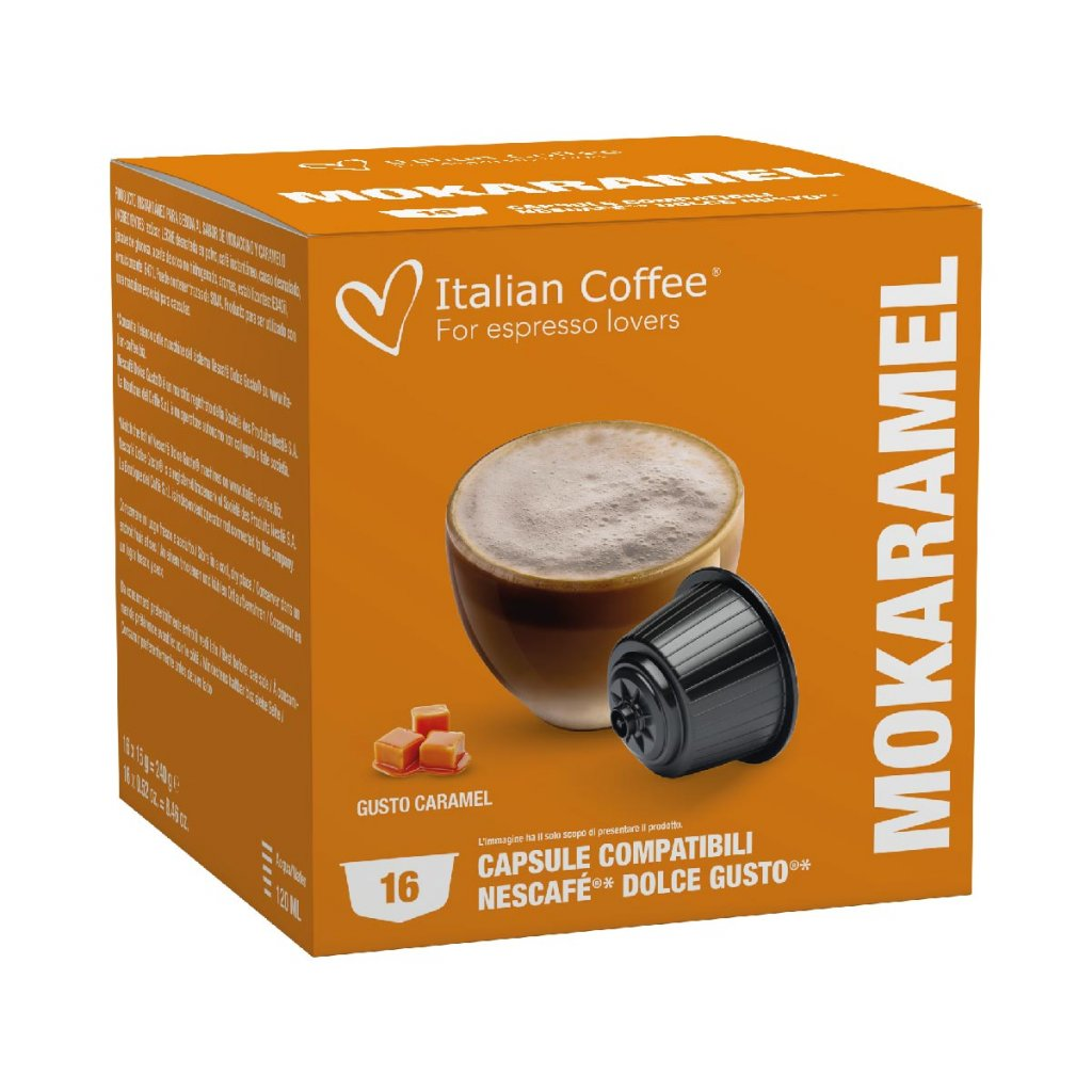 Kávové kapsle karamelové latté Nescafé