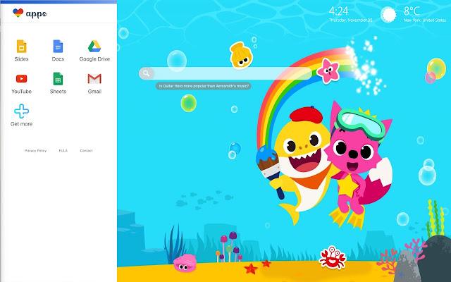 Baby Shark Pinkfong Hd Wallpaper Theme