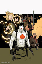 Photo: THE VALIANT #1 COVER. 2014. Ink(ed by Joe Rivera) on bristol board with digital color, 11 × 17″.