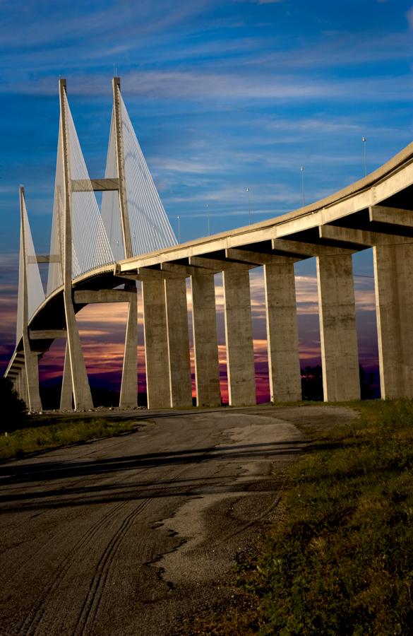 Sidney Lanier Bridge 2 by Carlos Holt - Buildings & Architecture Bridges & Suspended Structures ( holt, hdr, bridge )