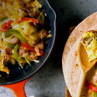 Sausage Pepper Sunrise Burrito