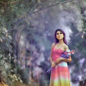 Rainbow Love by Angga Photology - People Fashion ( fashion, infrared, falsecolor, beauty, women, conceptual )