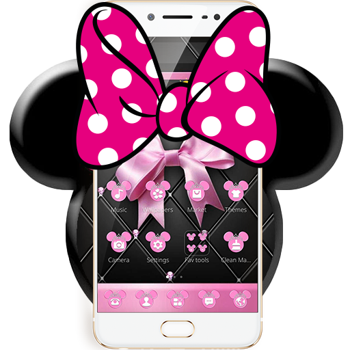 Pink Black Minny Bowknot Theme file APK for Gaming PC/PS3/PS4 Smart TV