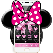 App Pink Black Minny Bowknot Theme APK for Windows Phone