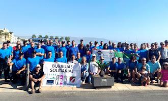 Burbujas Solidarias: Limpieza del mar en Roquetas
