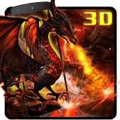 3D Fire dragon