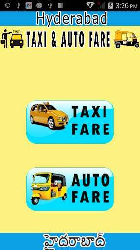 hyderabad taxi auto fare