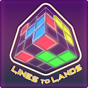 Lines To Lands : 3D Dots and Boxes Game icon
