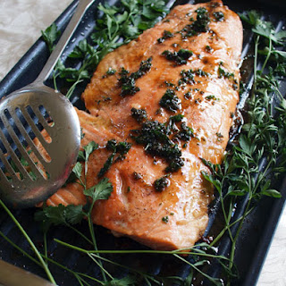 Whole Side of Salmon with Brown Butter Sauce