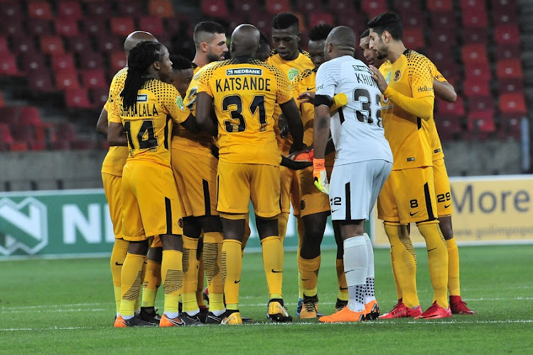 Chiefs final huddle before the start during the 2018 Nedbank Cup quarterfinal game between Kaizer Chiefs and Baroka FC at Nelson Mandela Bay Stadium in Port Elizabeth on 31 March 2018.