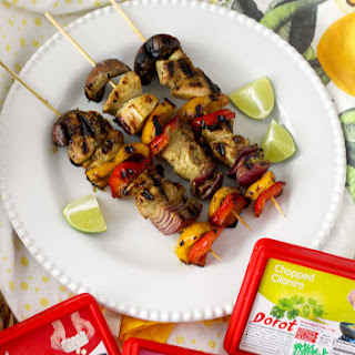 Key West Grilled Chicken and Vegetable Kebabs.