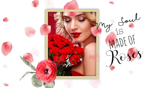 Rose Flower Photo Frames - náhled