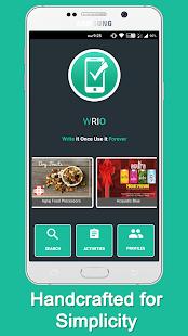 WRIO - Quick Response App - náhled