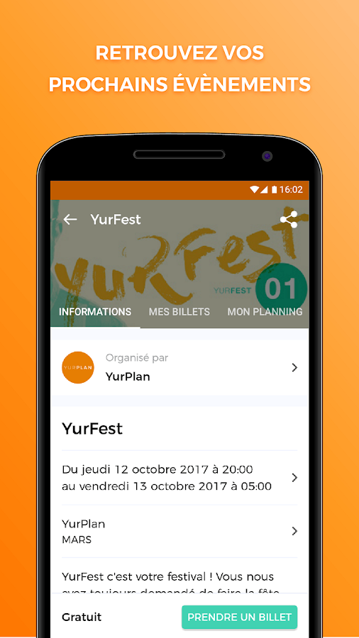 YurPlan – Capture d'écran