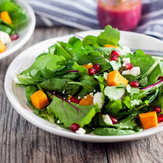 Roasted Butternut and Pomegranate Salad