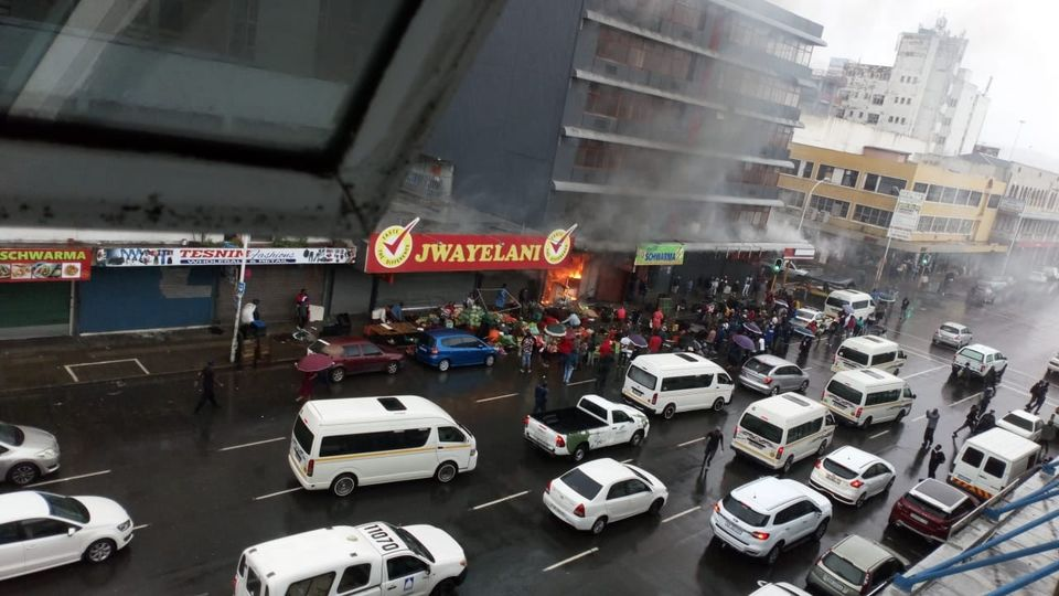 Protesters set three shops alight in Durban CBD - TimesLIVE