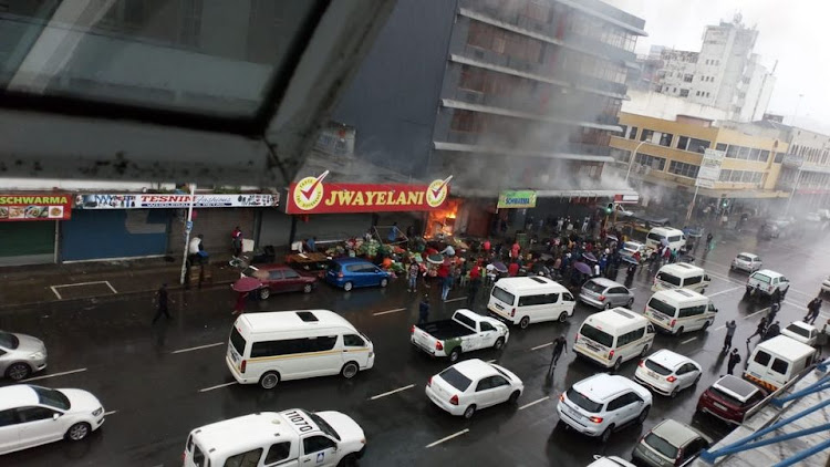 Durban firefighters swiftly contained a fire at a shop in the city centre on Monday morning.